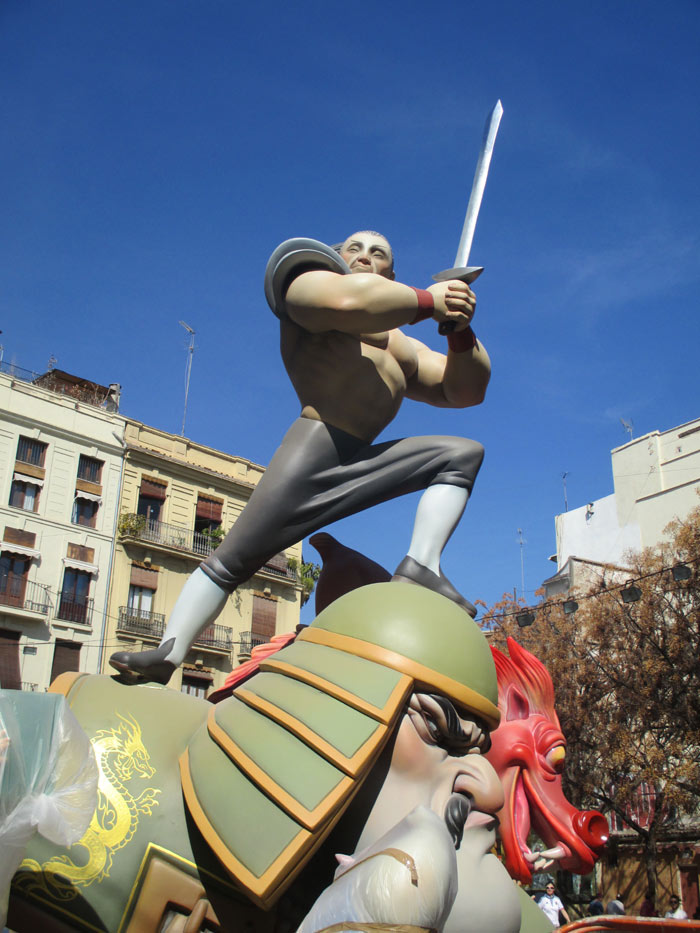 Falla Bolsería. Artist: Carlos Borrás. Subject: Made in La-pechina. 2ª A section.